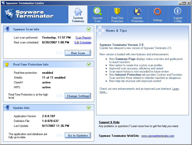 Spyware Terminator full screenshot